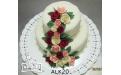 Rózsás torta ALK2048 - erre az alkalmi torta kódra hivatkozzon! Telefon: +36 1 318 8315