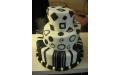 ESK2092 -  erre az esküvői torta kódra hivatkozzon!