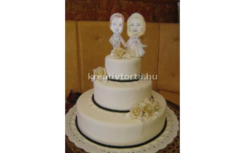 ESK2068 -  erre az esküvői torta kódra hivatkozzon!