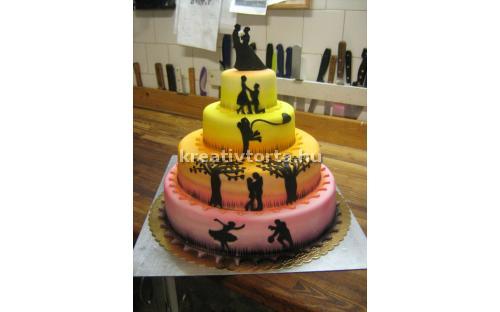 ESK2079 -  erre az esküvői torta kódra hivatkozzon!