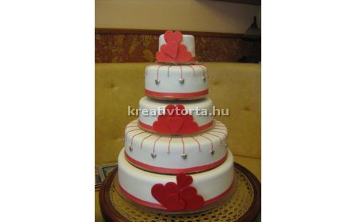 ESK2083 -  erre az esküvői torta kódra hivatkozzon!