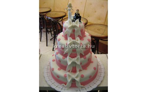 ESK2043 -  erre az esküvői torta kódra hivatkozzon!