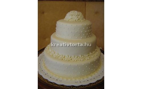 ESK2047 -  erre az esküvői torta kódra hivatkozzon!
