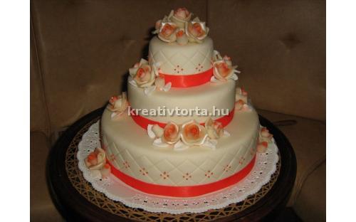 ESK2032 -  erre az esküvői torta kódra hivatkozzon!