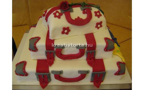 ESK2067 -  erre az esküvői torta kódra hivatkozzon!